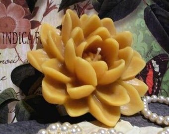 Beeswax Lotus Flower Candle Water Lily