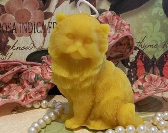 Beeswax Kitty Cat Candle