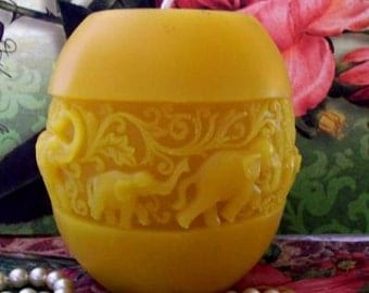 Beeswax Elephant Candle