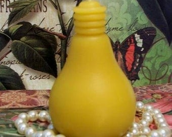 Beeswax Light Bulb Candle