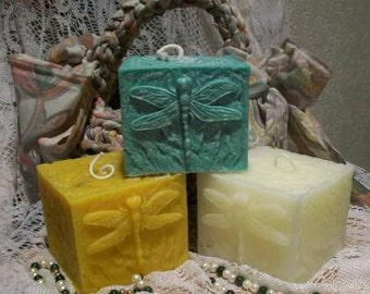 Beeswax Dragonfly Candle Choice Of Color