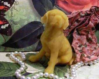 Beeswax Puppy Dog Candle #7