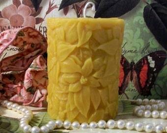 Beeswax Flower Pillar Candle