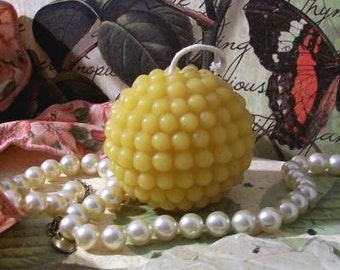 3 Beeswax Pearl Ball Candles Ball Shaped Candle