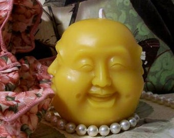 Beeswax Buddha With 4 Different Faces Candle
