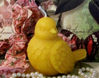 Beeswax Dove Bird Candle