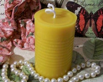 Beeswax Can Candle Pillar