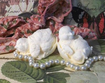 4 Beeswax Baby Chick Chicken Peep Candles