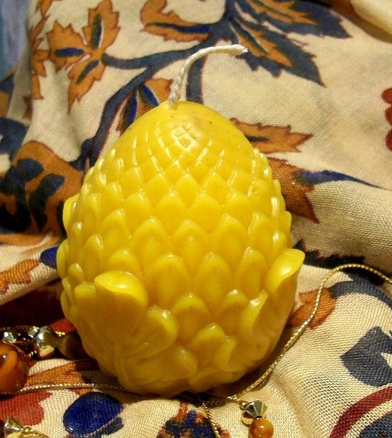 Beeswax Pine Cone Pinecone Pineapple Candle