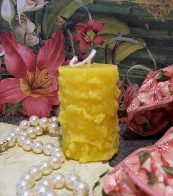 3 Beeswax Grubby Votive Size Candle