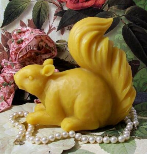 Beeswax Squirrel Candle Large Almost Life Size