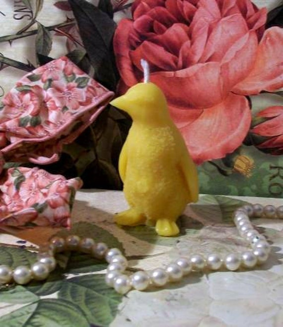 Beeswax 2 Penguin Candle