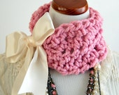 Choker Cowl Neck Scarf, The Victorian in Petal
