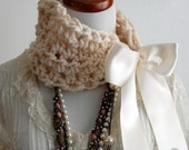 Cowl Choker Bohemian The Victorian in Cream, Shabby Style