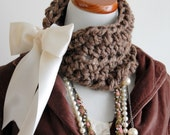 Choker Cowl Boho Chic The Victorian in Barley, Shabby Love