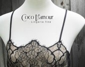 Sexy black allover lace baby doll