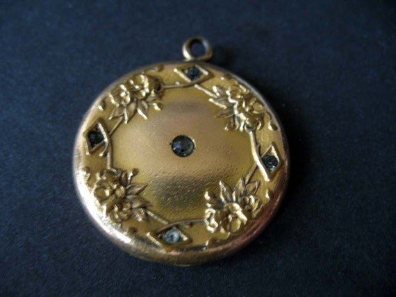 RESERVED Victorian Engraved Gold Filled Locket by W&H Co.