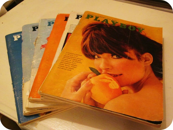 LOT playboy magazines 1966 - 6 issues