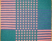 Handwoven wool rug mat