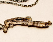 Combat Shotgun Necklace - made from recycled bullet casings