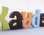 Childrens Decor Baby Boy Nursery Letters