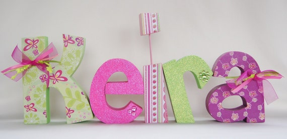 baby shower decoration baby name letters nursery letters baby girl