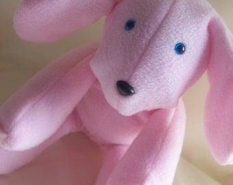 Girls Best Friend Pink Stuffed Dog