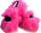 Vintage Club Kid Platform Shoes Pink Faux Fur Fabulama Party Monster Platorm Sandal Womens Size 7
