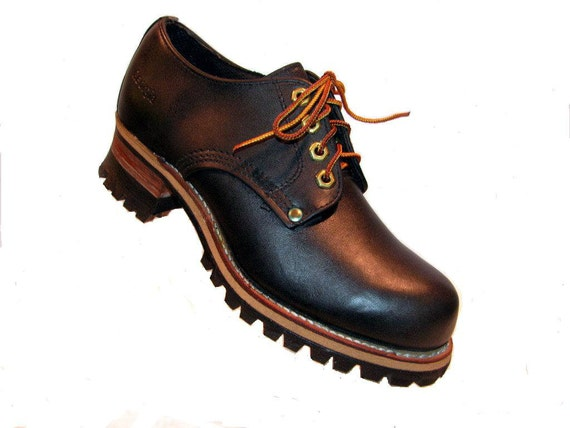 boots logger shoes vintage womens black by
