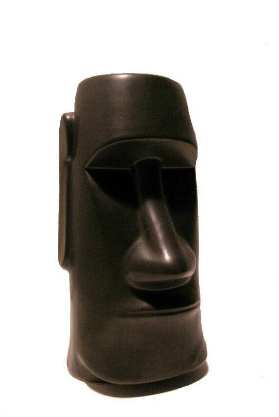 Vintage 1960 S Ceramic Easter Island Polynesian Moai Papa