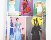 Simplicity Costume Pattern 0519 - Misses' Angel, Gypsy, House Maid, Witch or Princess Costumes -  SZ XS/S/M/L