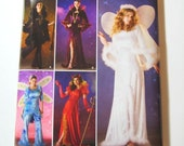 Simplicity Costume Pattern 0517 - Misses' Angel, Fairy, Devil, Witch or Queen Costumes -  SZ 6/8/10/12