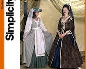 Simplicity Costume Pattern 7756 - Misses' Renaissance Costumes - ANDREA SCHEWE - Sz 4/6/8