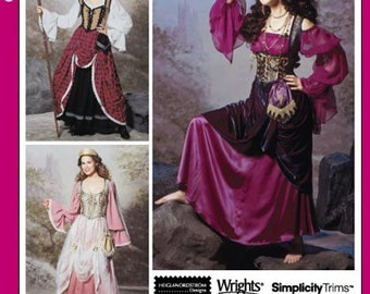 Simplicity Costume Pattern 9966 - Gypsy or Peasant Girl Costumes - Heigl and Nordstrom - SZ 6/8/10/12