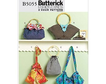 Butterick Handbag Pattern B5055 - Handbags in Five Variations - Ladies Accessories
