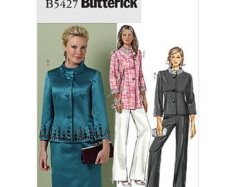 Pick Your Size - Butterick Sepatates Pattern B5427 - Misses' Embellished High Collar Jacket, Skirt and Pants - Butterick Patterns