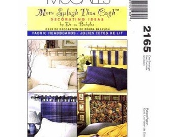 Fabric Headboards Pattern - McCall's Home Decor Pattern 2165 - Fabric Headboards in 4 Variations - DONNA BABYLON