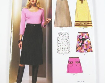 New Look Skirt Pattern 6854 - Misses' Skirt in Four Variations - Sz 8 thru 18