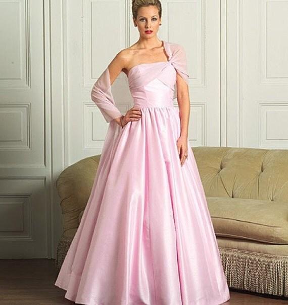 Butterick Evening Dress Pattern B4918 - 1952 Vintage Style Wrapped Bust Strapless Dress - Sz 6/8/10/12