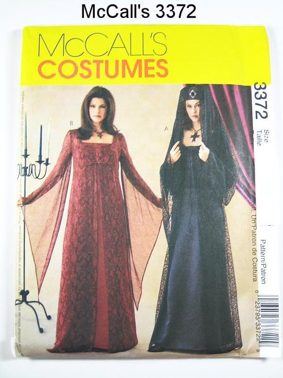 Sz 6/8/10/12 - McCall's Costume Pattern 3372 - Misses' Gothic Costumes