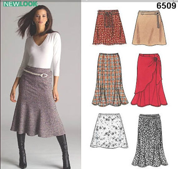 new look skirt pattern 6509 misses skirt and lined