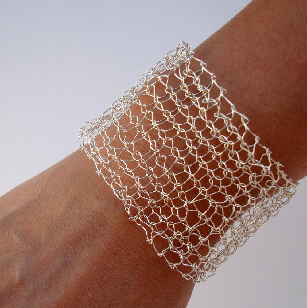 Arm Cuff Delicate Bracelet Silver Wide Cuff Bracelet
