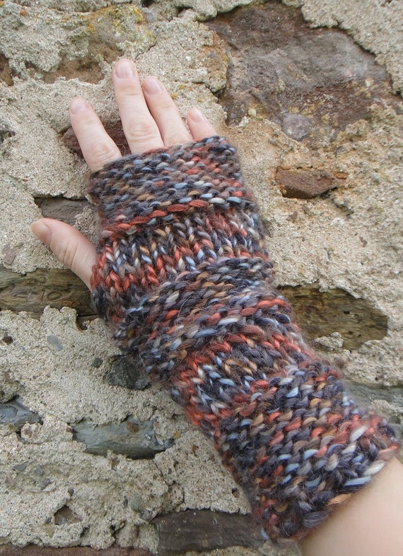 Soft and chunky Multicolor mittens