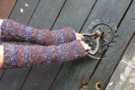 Extra long Comfy mittens in multicolor