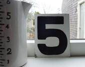 Handpainted Metal Number Sign
