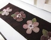 Wool Flowers Table Runner