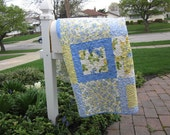 Sunny Yellow and Luscious Blue Soft Summer Winds Quilt