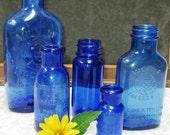 Instant Collection - Cobalt Blue Medicine bottles