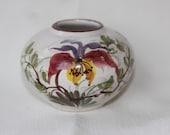 Ceramic flower bowl vase Made in Germany with sticker Vintage Cottage