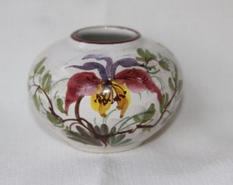 Ceramic flower bowl vase Made in Germany with sticker Vintage Cottage